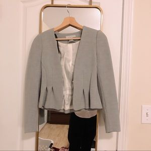 Grey H&M Peplum Blazer